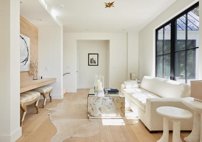 Transitional Living Room by Rachel Horn Interiors