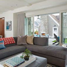 Contemporary Living Room by Charlie & Co. Design, Ltd
