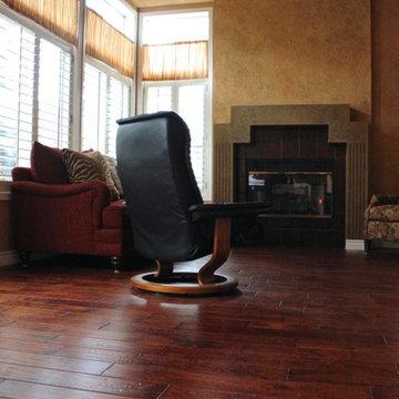 Cronin Solid Hardwood Floors in Living Room
