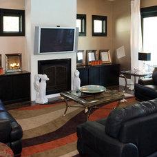 Contemporary Living Room by O'Shea Builders Inc.