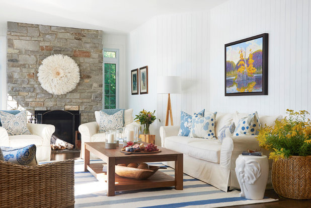 Beach Style Living Room by Emily Griffin Design