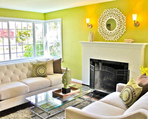 bright green sofa living design ideas renovations