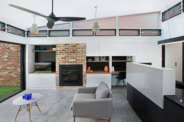 Contemporary Living Room by MM+J Architects