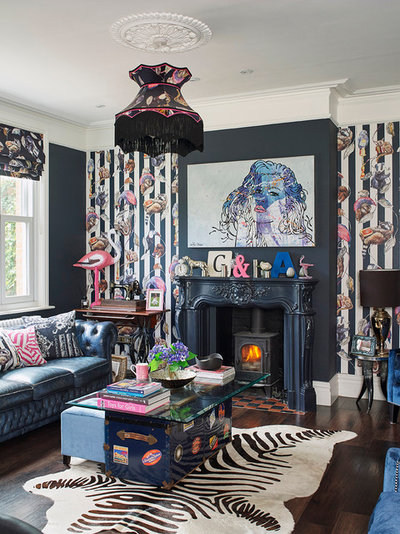 Eclectic Living Room by Noushka Design Ltd