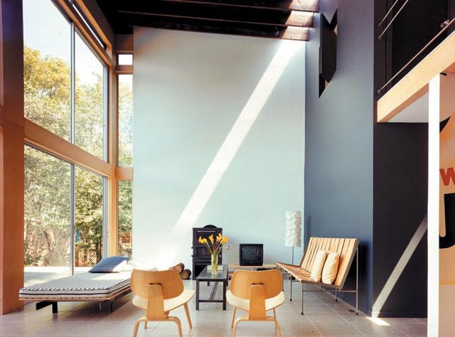 Modern Living Room by Roger Hirsch Architect