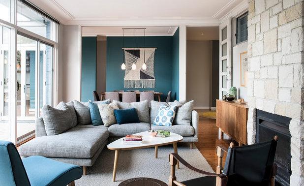Transitional Living Room by Karen Aston Design