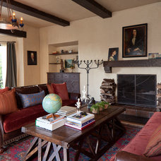mediterranean living room by Laura Martin Bovard