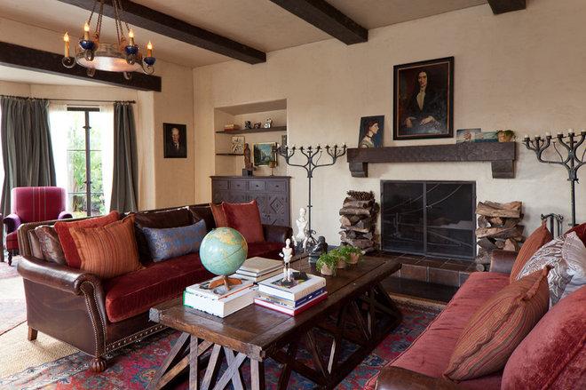 Mediterranean Living Room by Laura Martin Bovard