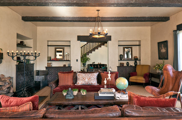 Rustic Living Room by Laura Martin Bovard