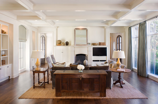 Transitional Living Room by James D. LaRue Architects