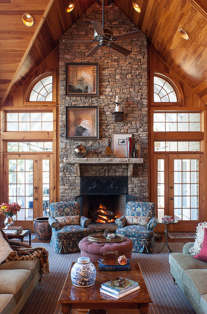 Traditional Living Room by Lucas Patton Design