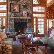 Rustic Living Room by Lucas Patton Design