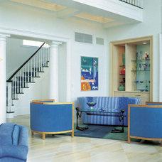 Mediterranean Living Room by Bruce D. Nagel Architect