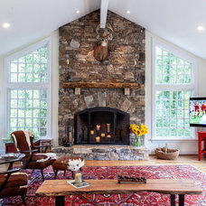 Traditional Living Room by Berg Building + Design