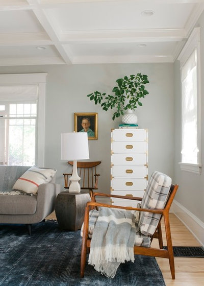 Transitional Living Room by Blinds.com