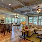 Sullivans Island Cottage Tropical Living Room