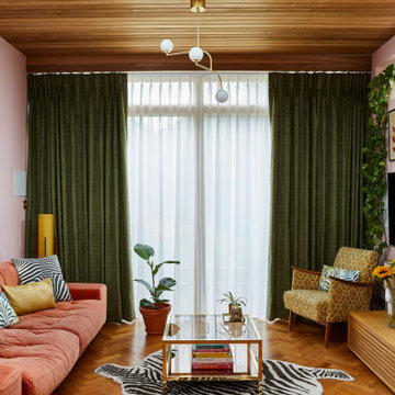 Curtains and Roman blinds- Fascination Juniper curtains