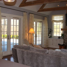 Traditional Living Room by Curtain Works of Greenwich