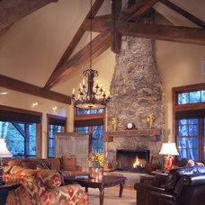 Rustic Living Room by Daniel J. Murphy Architect, PC
