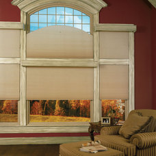 Traditional Living Room by CellularWindowShades.com