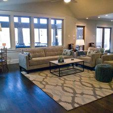 Modern Living Room by 3rd Street Custom Homes