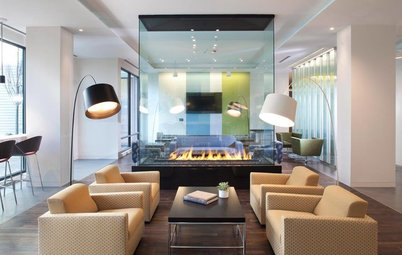 Objects of Desire: Modern Fireplaces Play Many Roles