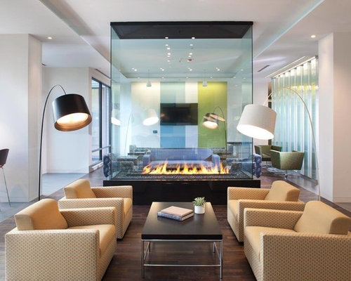 Glass Fireplace Home Design Ideas Pictures Remodel And Decor