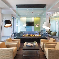 Contemporary Living Room by Acucraft Fireplaces