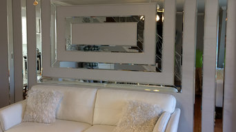 Custom Bevel Edge Mirrored Wall