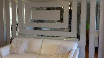 Custom Bevel Edge Mirrored Wall