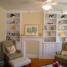 Traditional Living Room by A&E Construction