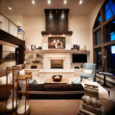 Contemporary Living Room by Stone Mountain Castings & Design