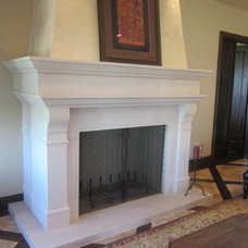 Traditional Living Room by Stone Mountain Castings & Design