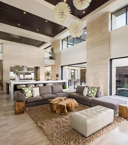 Contemporary Living Room by Blue Heron Design-Build