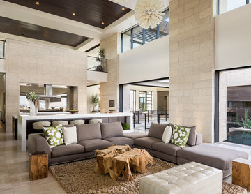 Custom Design - Great Room - New American Home 2013