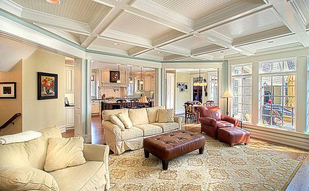 Traditional Living Room by Greenside Design Build LLC