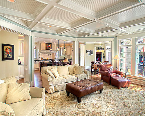 Coffered ceiling 9 ft home design ideas pictures remodel for Living room with 9 foot ceilings