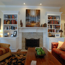 Farmhouse Living Room by Lankford Decorating & Construction, Inc.
