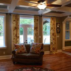 Traditional Living Room Custom Dream Home Built for a Family of 7