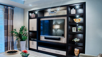 Custom entertainment center naples