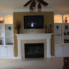 Traditional Living Room by Kreg's Custom Carpentry