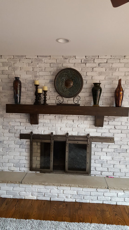 custom fireplace mantel with corbels