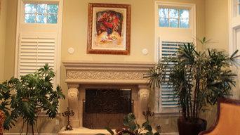 Custom fireplace mantels in San Diego