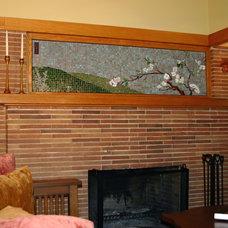 Traditional Living Room by Morava Glass Studio