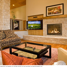 Contemporary Living Room by Leon Speakers, Inc.