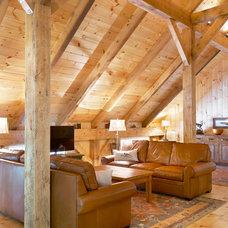Rustic Living Room by Fairview Builders, LLC