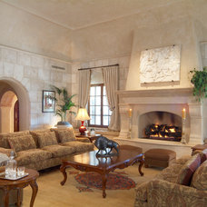 Mediterranean Living Room by Facings of America, Inc