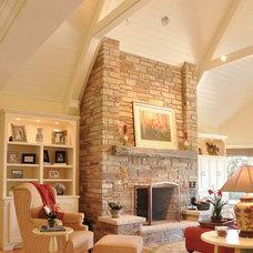 Traditional Living Room by Van's Lumber & Custom Builders, Inc.