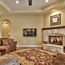 Traditional Living Room by Valverdi Custom Homes