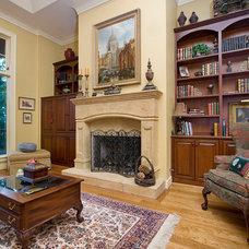 Traditional Living Room by BlueStone Construction, LLC